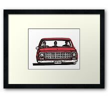 MMM DROP in red Framed Print