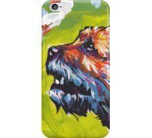 Border Terrier Bright colorful pop dog art iPhone Case/Skin