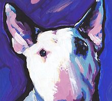 Bull Terrier Dog Bright colorful pop dog art by bentnotbroken11