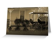 Old house and wagon Greeting Card