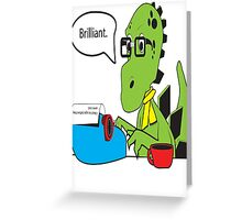 Hipsterasaurus Greeting Card