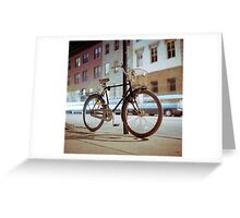 City Bicycle Greeting Card