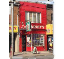 Parkdale Toronto Lee's Variety Convenient neighbourhood neighborhood heritage building store 'The Red Store' iPad Case/Skin