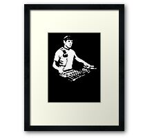 DJ Spock mixing on the decks (star trek) Framed Print