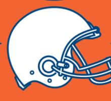 American Football Helmet Stars Shield Retro Sticker