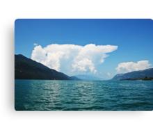 Cumulonimbus (Lac du Bourget) Canvas Print