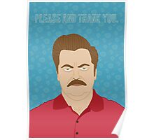 Please & Thank You -Swanson Poster