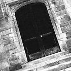 Black And White Doorway by perkinsdesigns