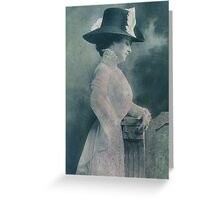 A Lady Ponders Greeting Card