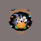Mickey and Minnie witch and vampire Happy Halloween by sweetsisters
