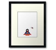 Hero/Icon Penguin - Superman Framed Print