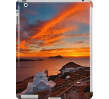 One more sunset in Milos iPad Case/Skin