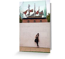A day out in Greenwich - Ship in a bottle Greeting Card