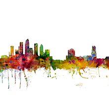 Tampa Florida Skyline by Michael Tompsett