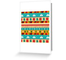 Merry Christmas seamless pattern Greeting Card