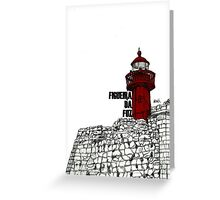 Figueira da Foz - Red Lighthouse Greeting Card