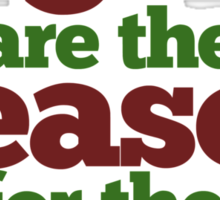 PAGANS are the reason for the season Sticker