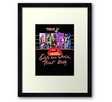 Kylie - Team K Kiss Me Once Tour 2 Framed Print