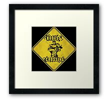 Roland Badass Crossing (Worn Sign) Framed Print