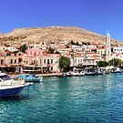 Halki Harbour Front by Tom Gomez