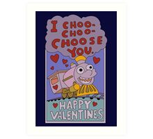 The Simpsons: I choo choo choose you Art Print