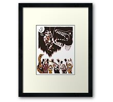 Why Did It Have To Be Snakes -white- Framed Print
