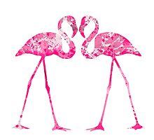 Love Flamingos  by Watercolorsart