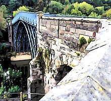 HISTORIC IRONBRIDGE ~ ENGLAND by TONY COMPTON by TONYARTIST