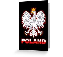 Poland - Polish Coat of Arms - White Eagle Greeting Card