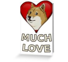 Doge Valentine's Day Greeting Card