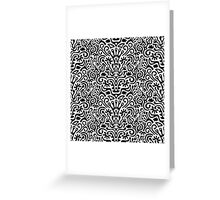 Funny Black and White Seamless Pattern Background with Flowers, Leaves, Crown, Egg, Key, Etc. Greeting Card