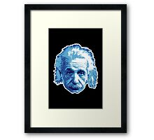 Albert Einstein - Theoretical Physicist - Blue Framed Print