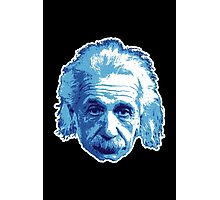 Albert Einstein - Theoretical Physicist - Blue Photographic Print