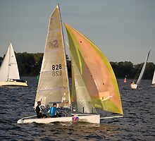 Mid-week Regatta, Stralsund, Baltic Sea, Germany. by David A. L. Davies