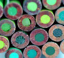 Pencils Back Green by Henrik Lehnerer
