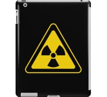 Radioactive Symbol Warning Sign - Radioactivity - Radiation - Yellow & Black - Triangular iPad Case/Skin