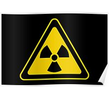 Radioactive Symbol Warning Sign - Radioactivity - Radiation - Yellow & Black - Triangular Poster