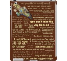 Firefly quotes iPad Case/Skin