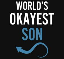 Worlds Okayest Son & Worlds Okayest Dad Couples Design by 2E1K