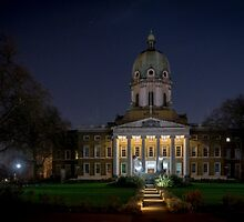 Imperial War Museum at Night by Sue Martin