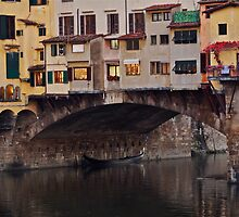 Ponte Vecchio Over the Arno by Rae Tucker