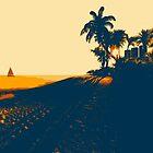 Sunset beach by Marsea