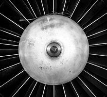 Closeup of a jet engine of an aircraft by Anna Váczi