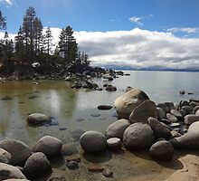 Sunlight Streaming Down at Lake Tahoe by KristinaL