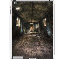 Old train carriage interior with light intruding iPad Case/Skin