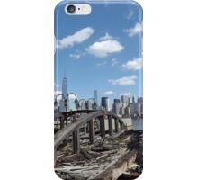 Abandoned Ferry Slips, Lower Manhattan Skyline, Liberty State Park, New Jersey iPhone Case/Skin
