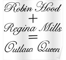 Outlaw Queen Equation Poster
