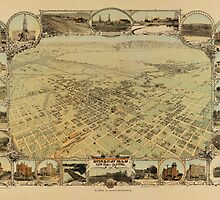 Map of Bakersfield 1901 by AndrewFare