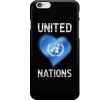 United Nations - Flag Heart & Text - Metallic iPhone Case/Skin