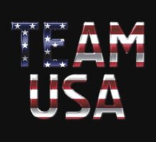 Team USA - American Flag - Metallic Text by graphix